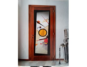 Porta a vetro unico  battente 530 in legno  Boscavenezia in Offerta