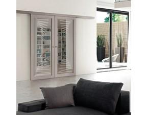 Porta a vetro unico  scorrevole Fly scorrevole esterno muro in legno  Fioravazzi in Offerta