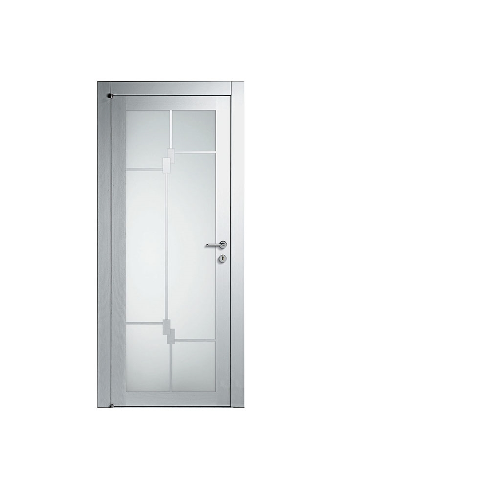 Porta barausse a battente in frassino bianco porte a for Porte a battente