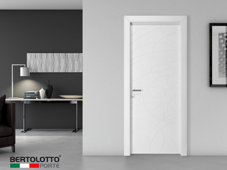 Porta Bertolotto Natura mistral laccato opaco bianco con cerniere a ...