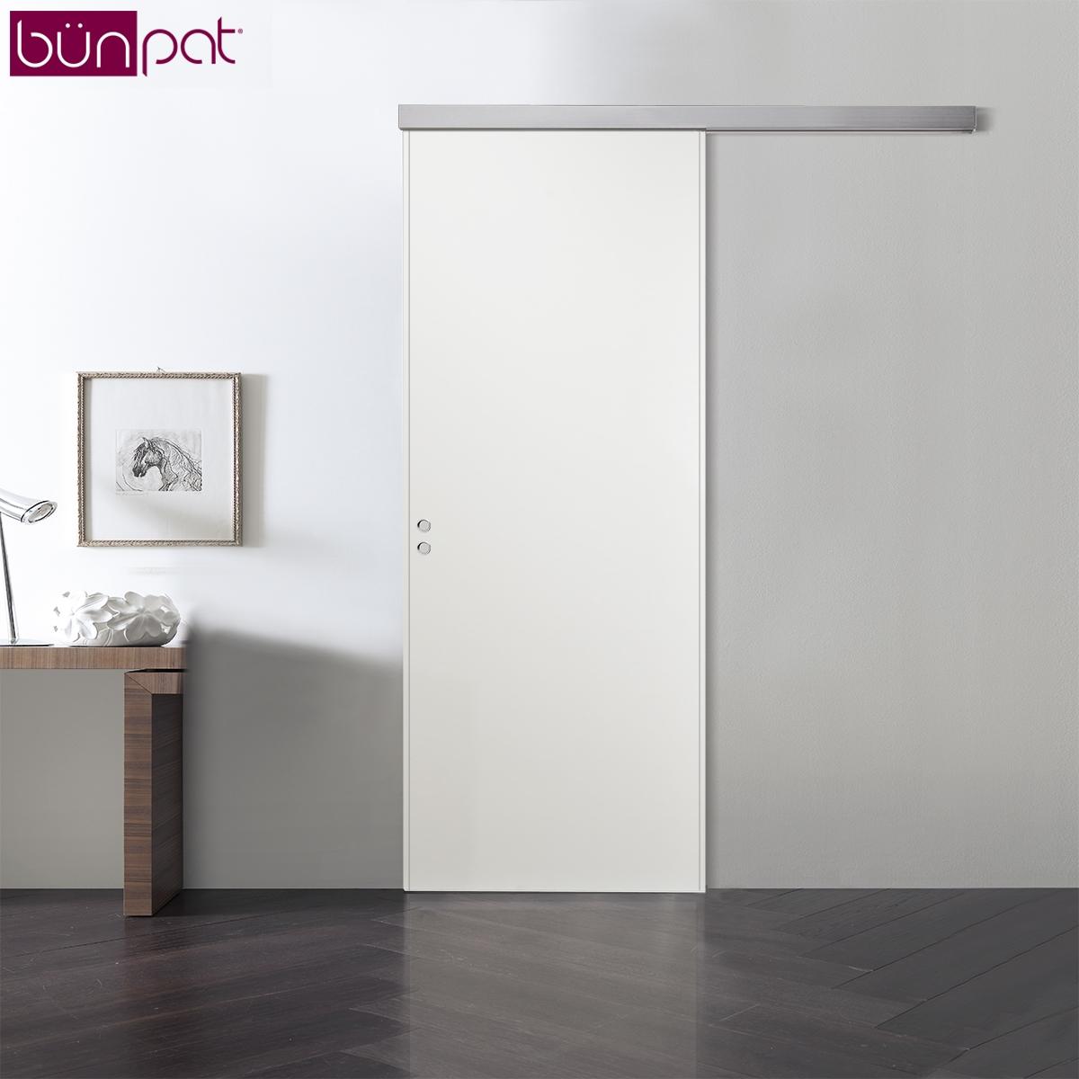 Porta bunpat scorrevole esterno muro colore bianco - Porte scorrevoli esterno muro prezzi ...