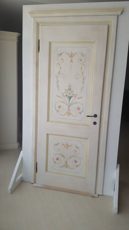 porta in massello decorata a mano - Porte a prezzi scontati