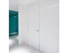 Porta liscia  battente Porta battente filomuro 210x80 l'invisibile originale pannello grezzo + telaio in legno  Artigianale in Offerta