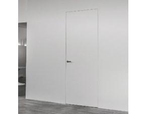 Porta moderna in legno  Artigianale Porta battente filomuro 60x210 l'invisibile origin. pannello con fondo + telaio a prezzo Outlet