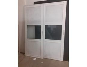 Porta moderna in legno  Outlet etnico Ante scorrevoli modello white vetro e legno in Offerta Outlet