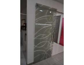 Porta moderna in vetro  Artigianale System zero - aura cipria a prezzo scontato