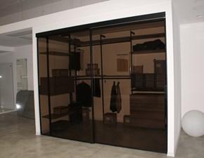 Porta moderna Rimadesio Velaria profilo e vetro brown SCONTATA