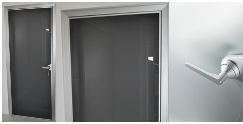 Porta rimadesio in vetro battente ghost scontata del 70 - Montaggio porta battente ...