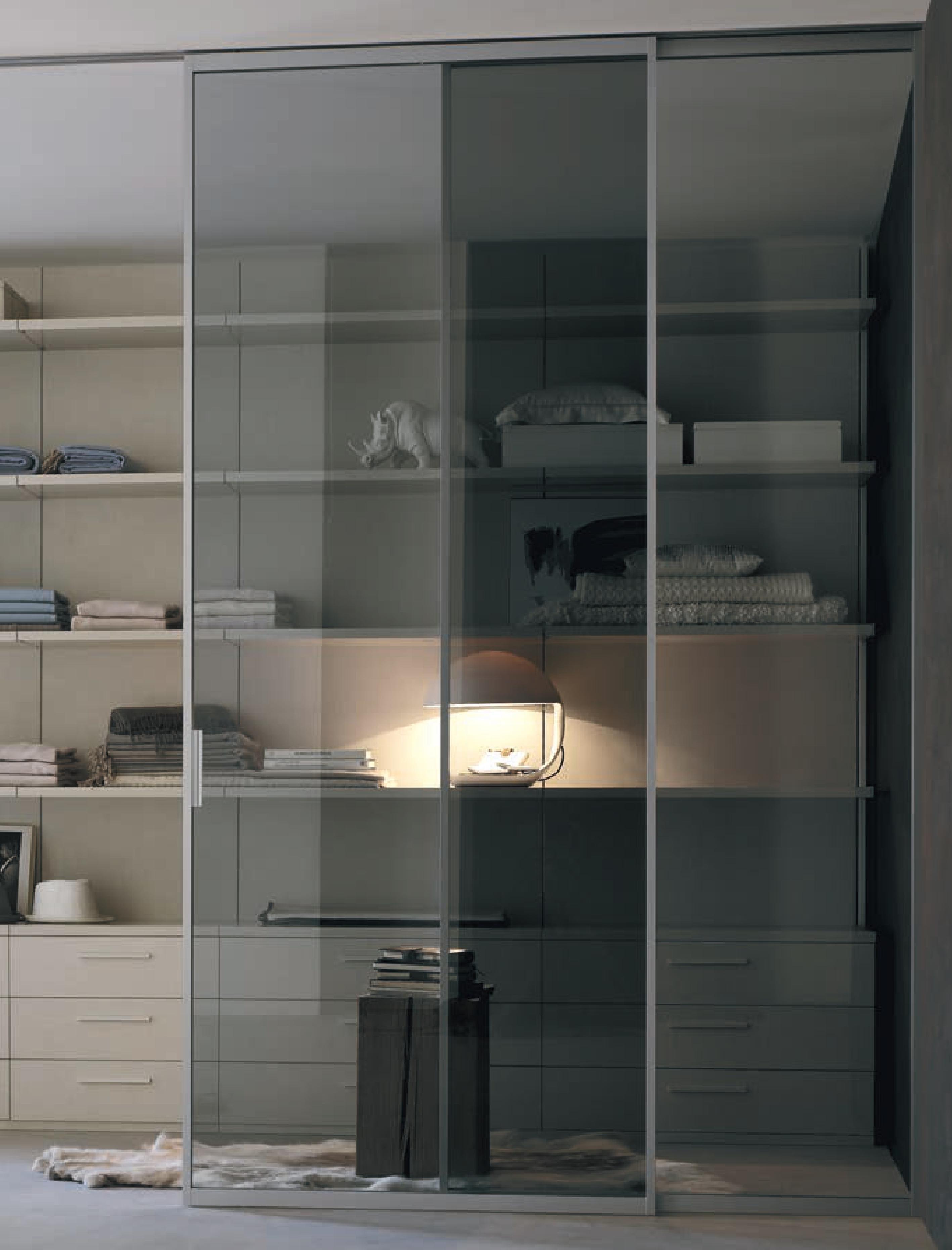 Porta scorrevole a due ante in vetro satinato su misura - Porta scorrevole vetro satinato ...