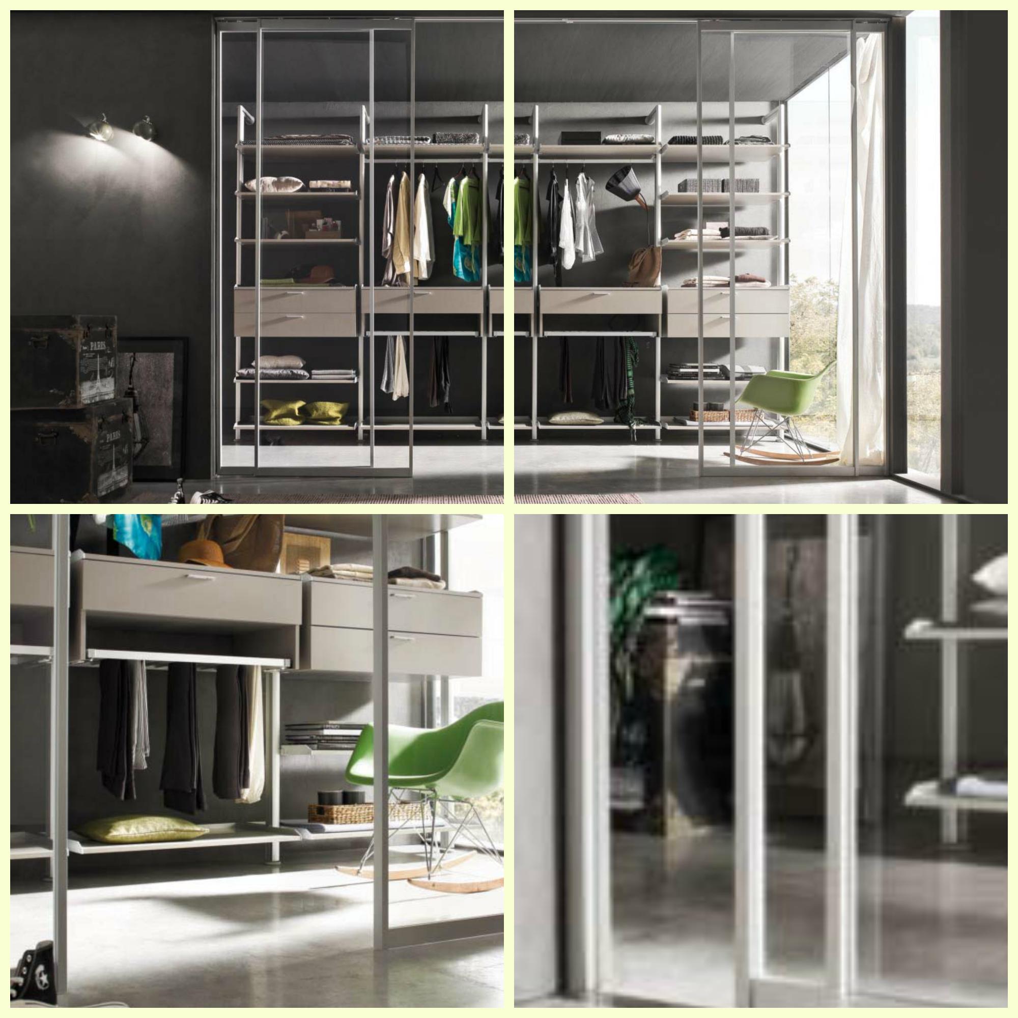 Porta scorrevole a tre ante in vetro trasparente porte a - Porta in vetro scorrevole ...