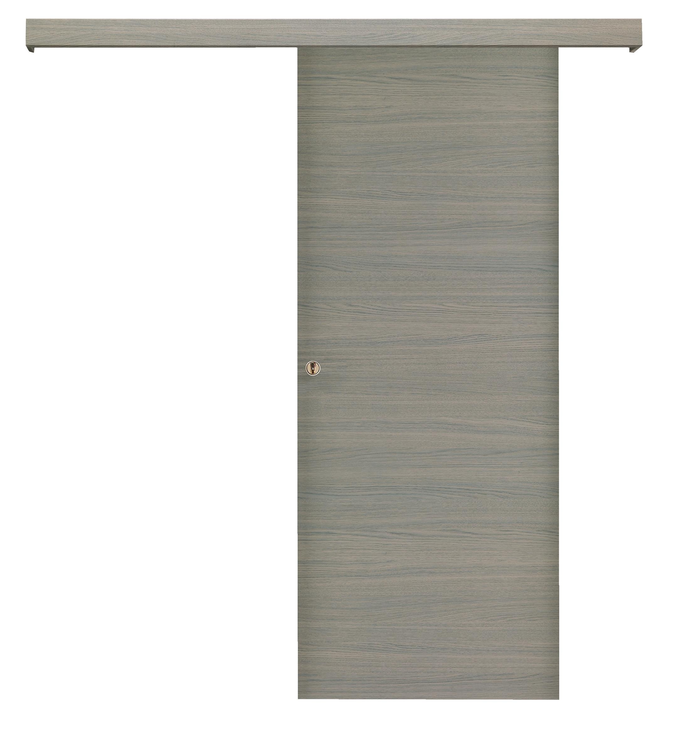 Porta scorrevole asterno muro bianca su misura porte a - Porta scorrevole esterno muro prezzo ...