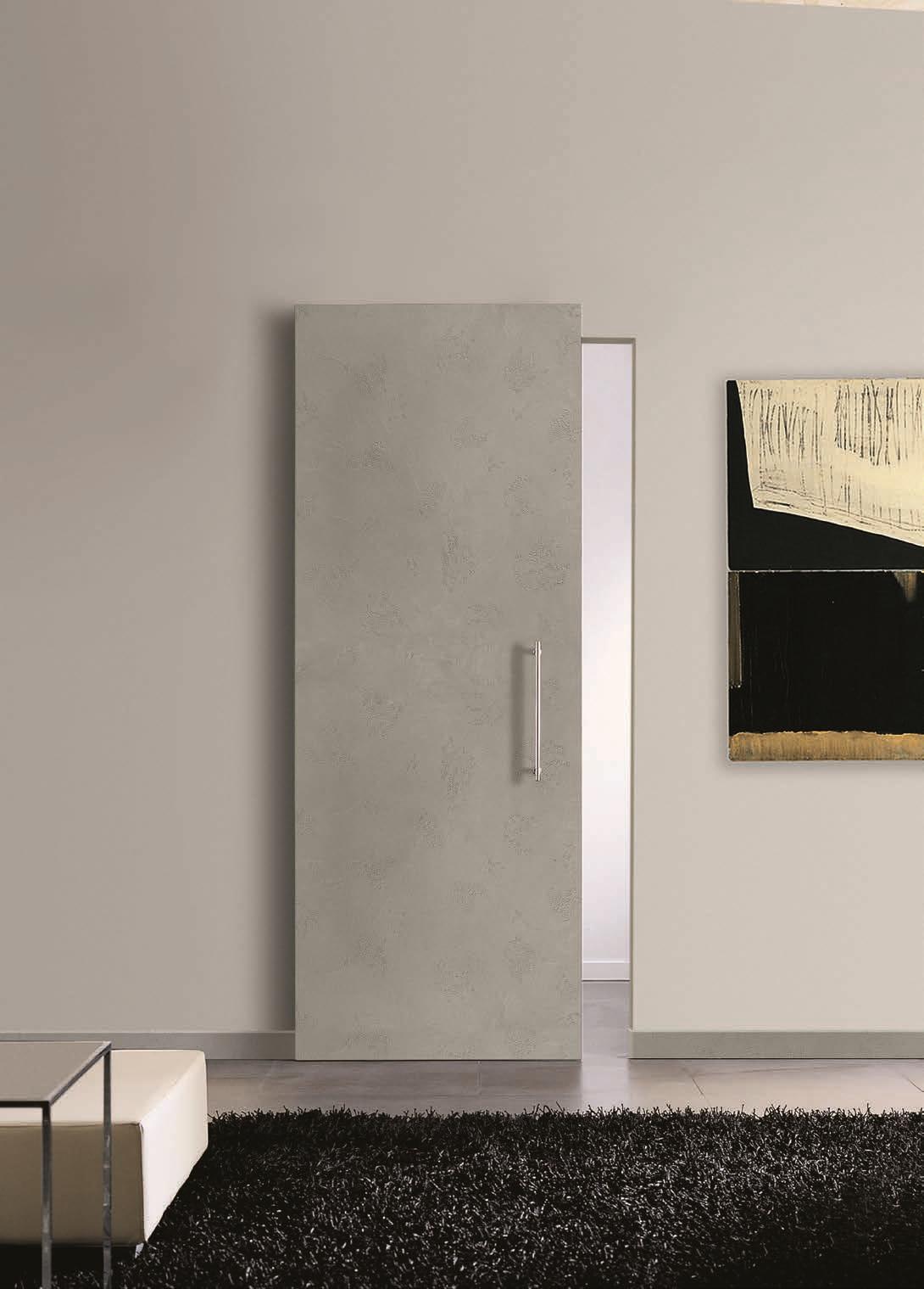 Porta scorrevole filo muro binario a scomparsa scontata - Porta scorrevole esterno muro prezzo ...