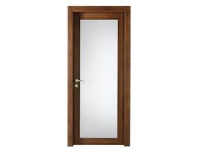 Porta semivetrata  battente Portalacasa modello noce nazionale vetro in laminato  Artigianale in Offerta