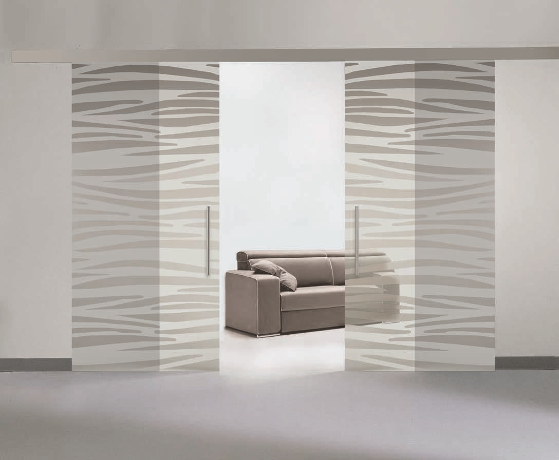 Porte in vetro serigrafate su misura personalizzabili - Porta scorrevole vetro offerta ...
