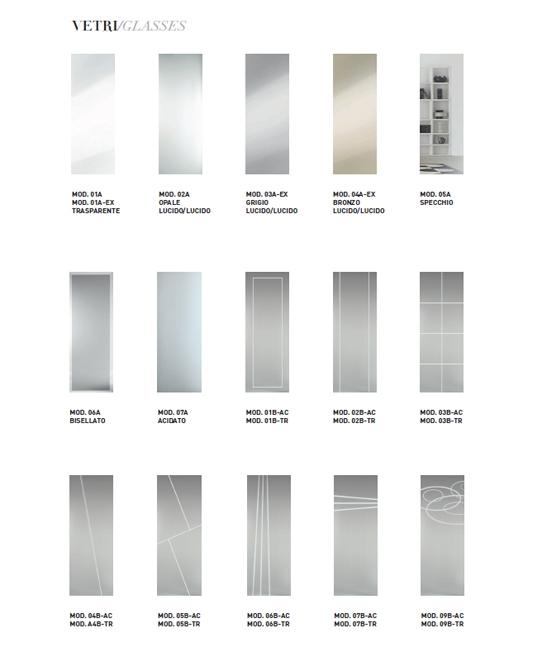 Porte in vetro serigrafate su misura personalizzabili - Vetro per porta interna ...