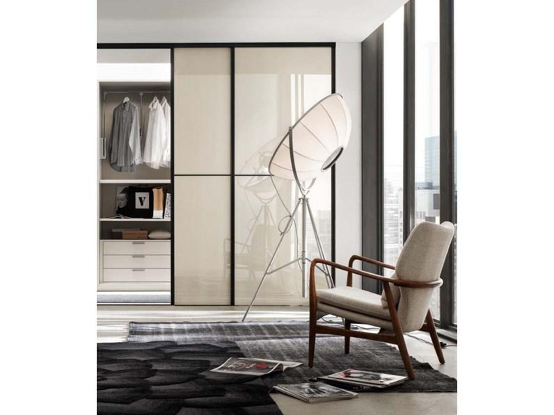 Porte scorrevoli moderne in vetro e alluminio Su Misura