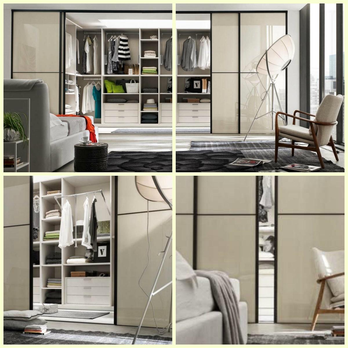 Porte scorrevoli moderne in vetro e alluminio su misura for Porte scorrevoli arredo