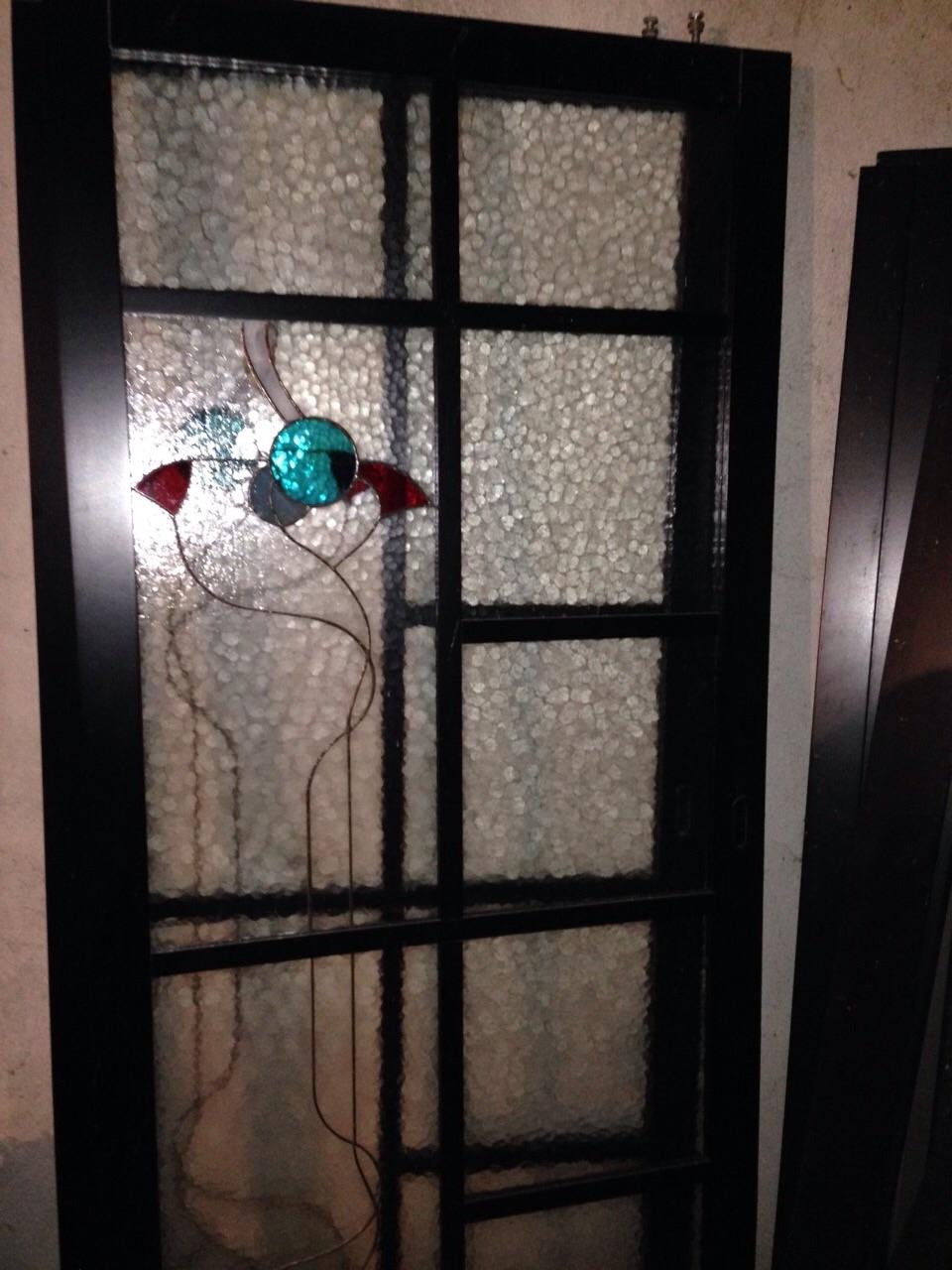 Porte scorrevoli vetro temperato e legno laccato nero - Porte a prezzi scontati