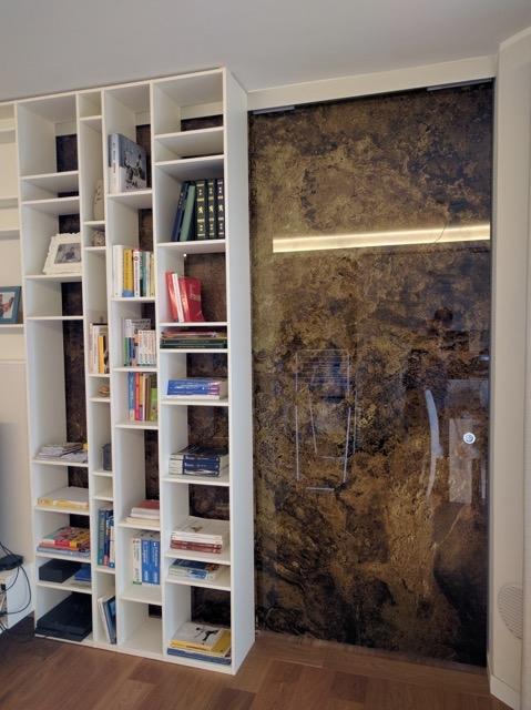 Porte vetro scorrevoli decorate marmo produzione glamour - Porte in vetro design ...