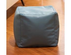 Pouf design modello Pouf ecopelle azzurro Creativando in Offerta Outlet
