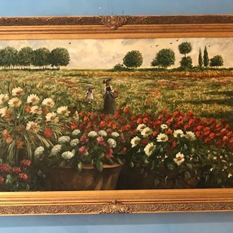 Dipinto campo di fiori olio su tela di paolo turri in for Quadri fiori olio