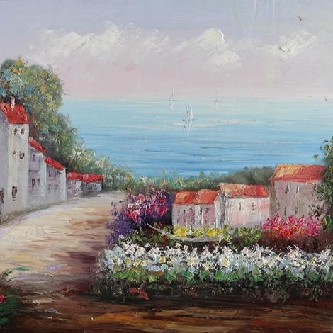 Dipinto con paesaggio, fatto a mano di dimensioni 90X60, nuovo a ...