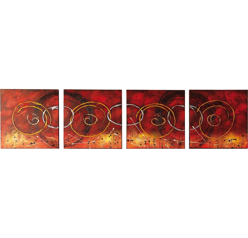 Quadro moderno olio su tela Astratto di Stones con set di 4 ...
