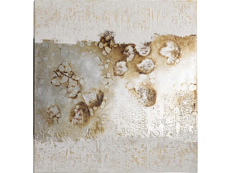 Quadro moderno olio su tela foglie naturi di Stones