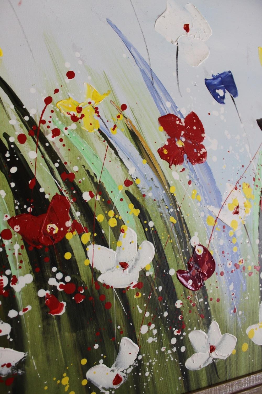 Quadri moderno bubola naibo prato di fiori scontato del for Quadri di fiori