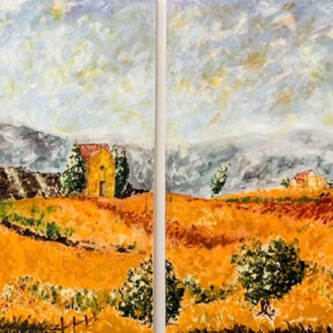 Quadri Moderno Nuovi Mondi Cucine Quadro toscano bucoilco orange paesaggio Quadri paesaggi ...