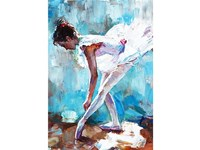 Quadro altre tipologie Ballerina turchese Pintdecor in Offerta Outlet