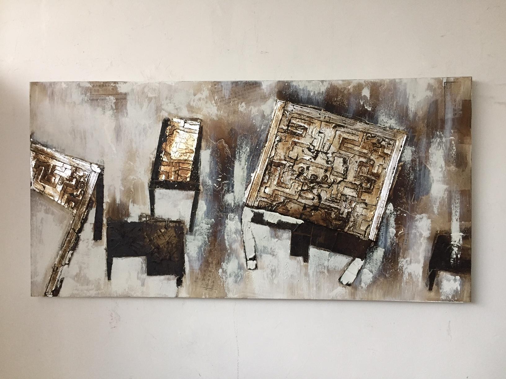 Quadri moderni astratti con fregi argento quadri moderni for Quadri materici astratti