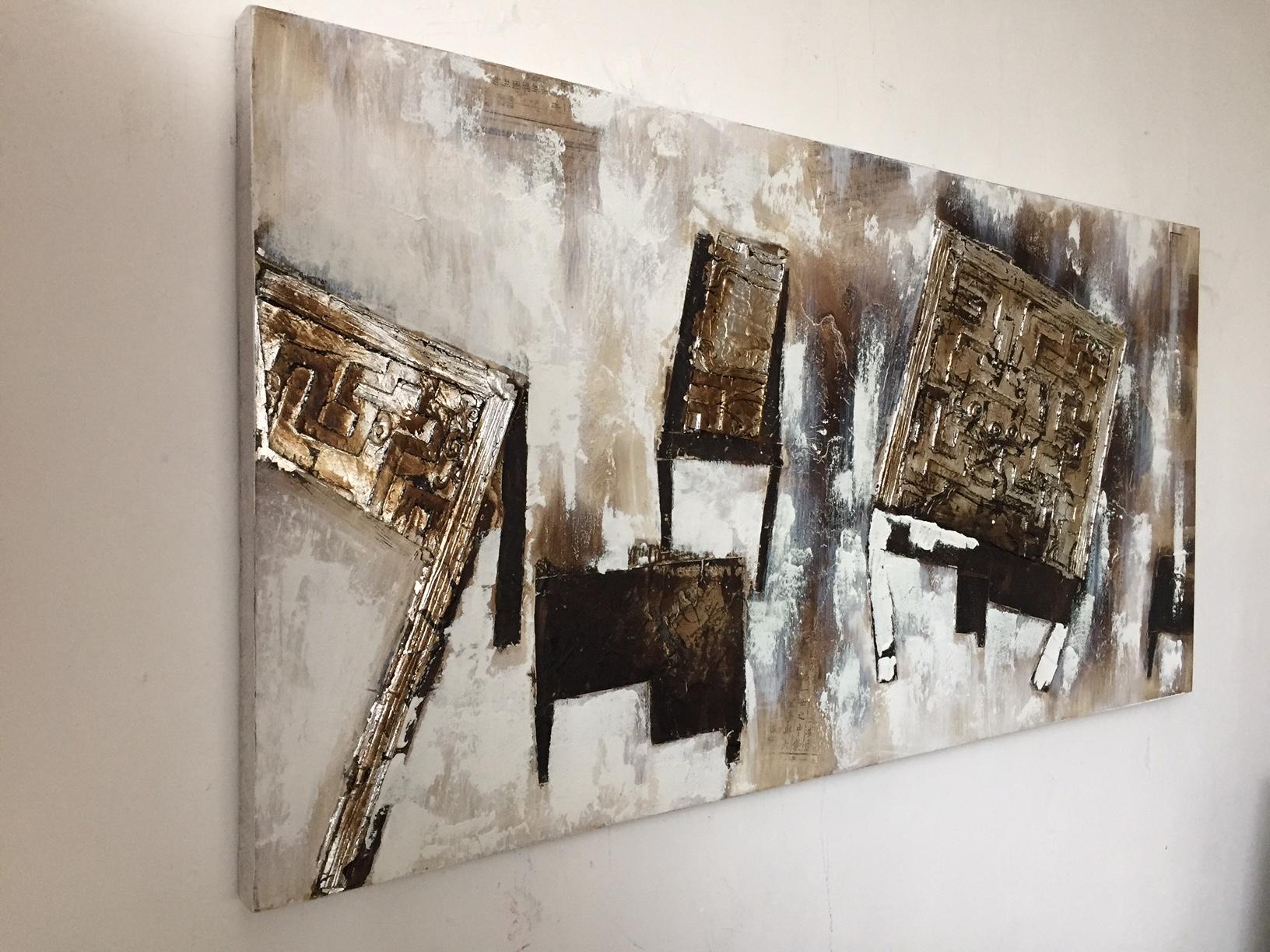 quadri moderni astratti con fregi argento - Quadri moderni a ...
