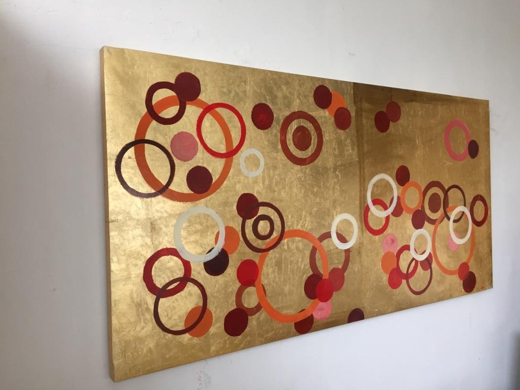 quadro astratto moderno foglia oro - Quadri moderni a prezzi scontati