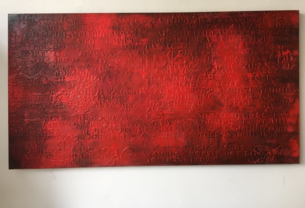 Quadro astratto rosso materico quadri moderni a prezzi for Quadri moderni materici