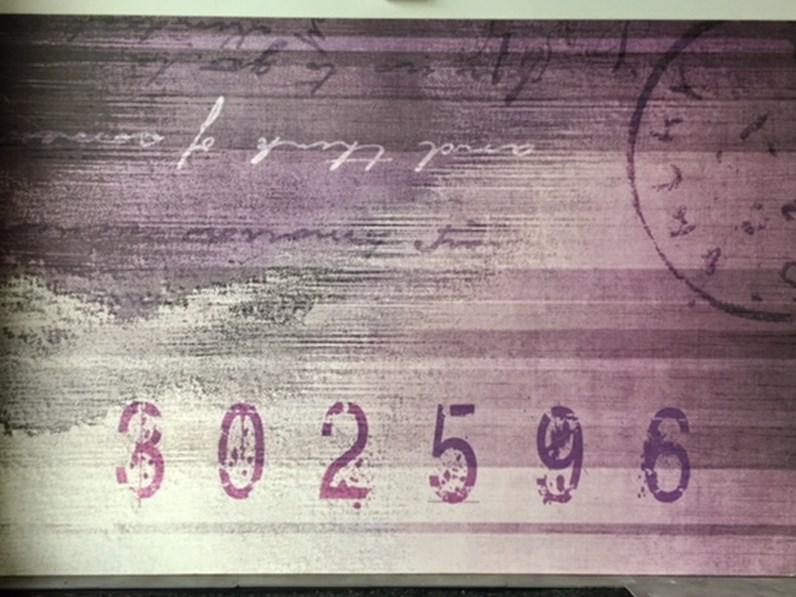 Lettere Di Legno Colorate : Quadro di carta artistica decorata su pannello in legno lettera