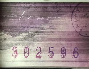 Quadro di Carta da parati artistica decorata , su pannello in legno - Carta da lettera storica - produzione N.O.W. Edizioni