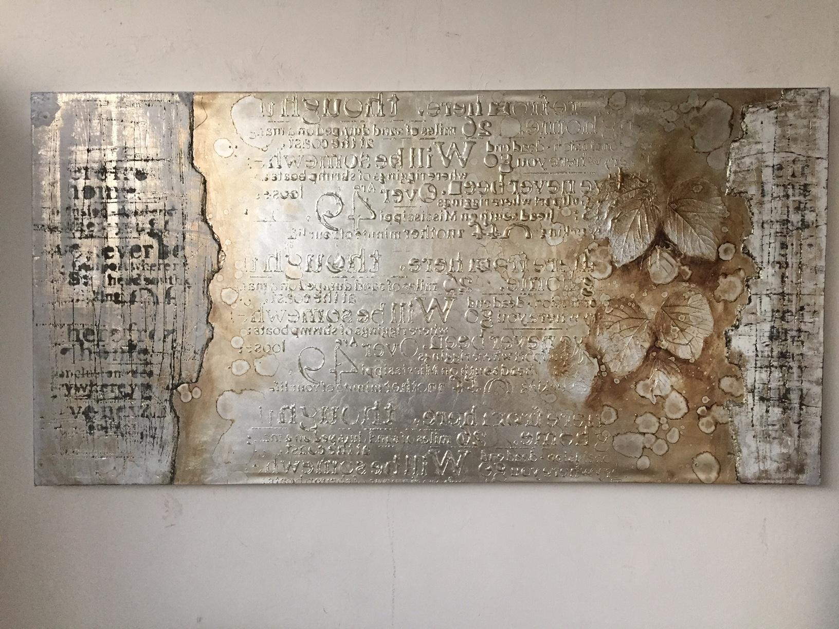 Quadro moderno astratto foglia argento quadri moderni a for Quadri in argento