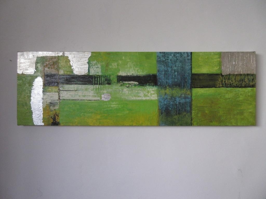 Quadro moderno astratto materico verde quadri moderni a for Quadri materici astratti