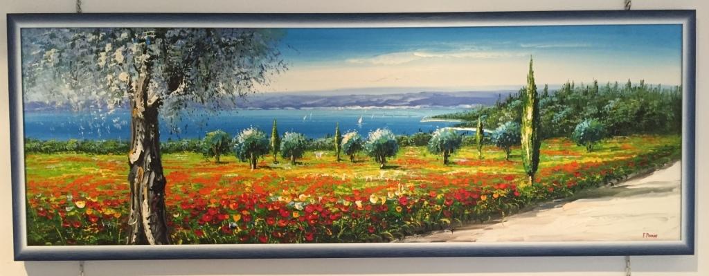 quadro moderno paesaggio di papaveri - Quadri moderni a prezzi ...