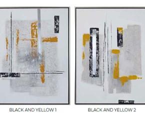 Quadro Quadro black and yellow Artigianale ad un prezzo imperdibile
