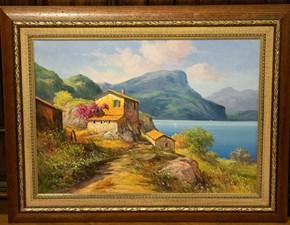 Quadro Quadro olio su tela paesaggio Artigianale ad un prezzo imperdibile