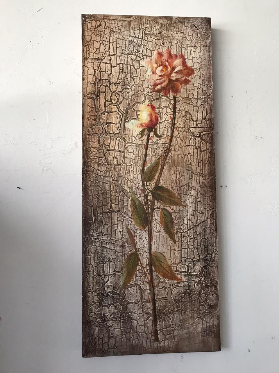serie di pannelli di quadri moderni con fiori - Quadri moderni a ...