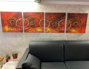 Splendido quadro astratto Cerchi 012 Stones a prezzo Outlet
