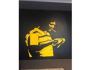 Splendido quadro famoso Giallo nero Artigianale a prezzo Outlet