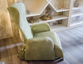 LLOYD LOOM  Poltrona relax intrecciata Lady oscar reclinabile verde