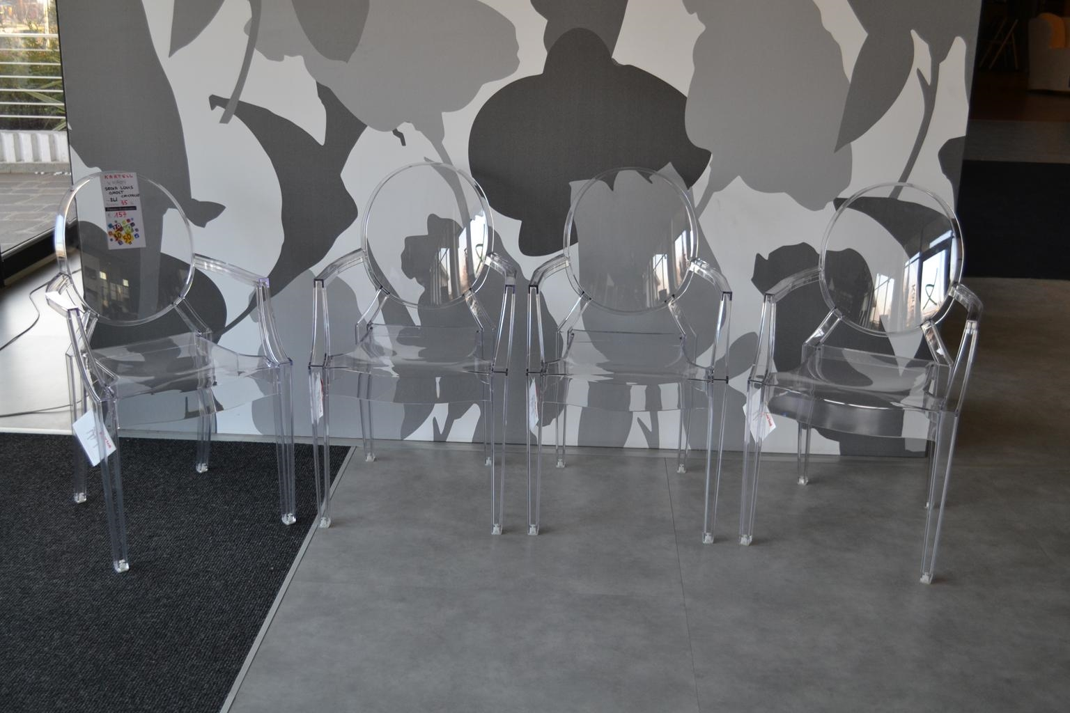 4 sedie kartell louis ghost sedie a prezzi scontati for Sedie policarbonato nere