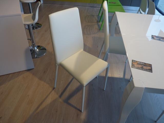 4 sedie Stones ecopelle bianca! - Sedie a prezzi scontati