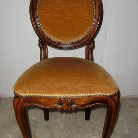 Outlet sedia 6 sedie artigianali in noce scontato del 40 for Outlet del mobile torino