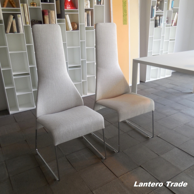 B b sedia b b italia set 4 sedie lazy vendita for Sedia design vendita